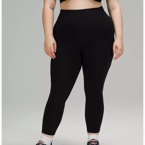 """lululemon Fast And Free HR Tight 25"""" Black Size 18"""